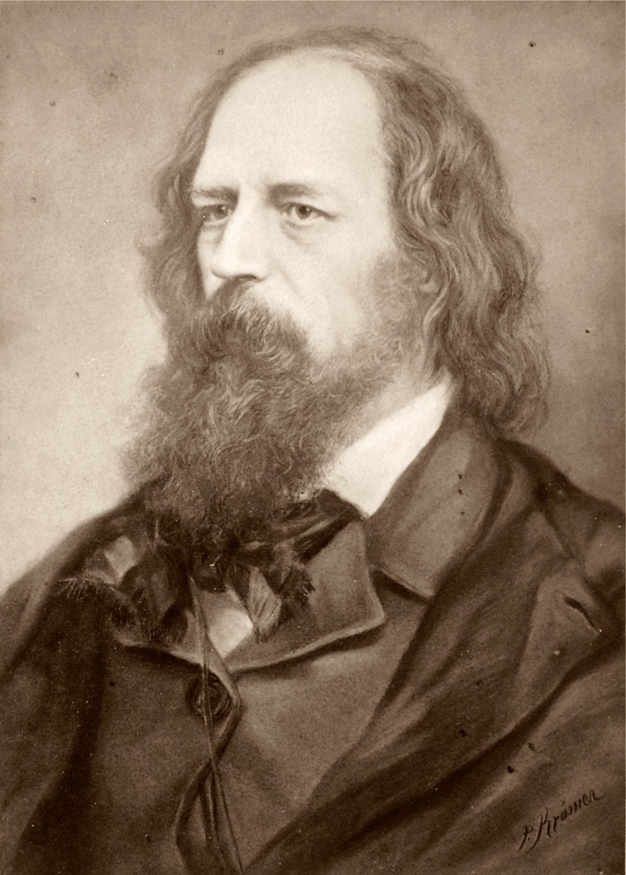 Deutsch: Alfred Lord Tennyson 1809-1892 englis...
