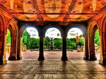 File:Bethesda fountain and the terrace, Central Park, NYC ...