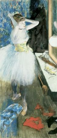 File:Dancer in her Dressing Room (danseuse Dans Sa Loge) pastel and peinture à l'essence on canvas by Edgar Degas, c. 1879.jpg