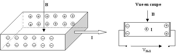Illustration de l'effet Hall