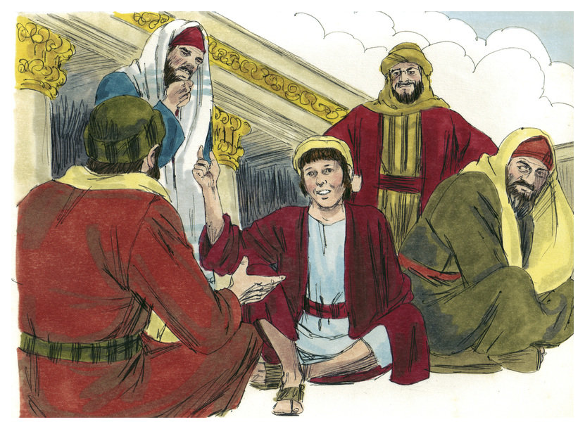Jesus in the Temple as a boy