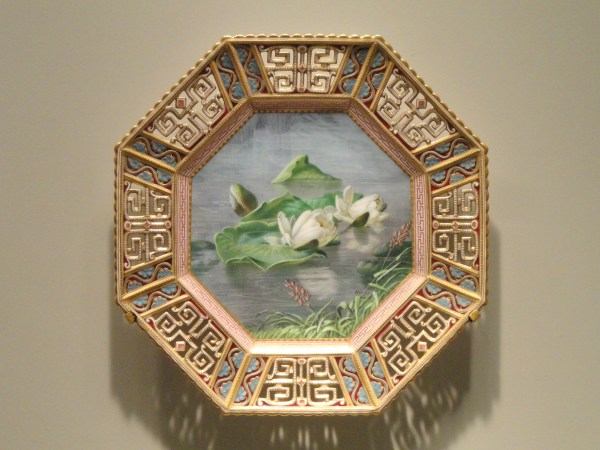 File Plates With Water Lilies . 1885 Copeland Porcelain