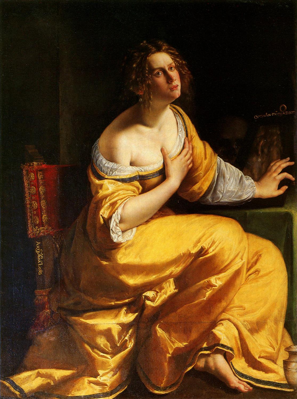 Artemisia Gentileschi  - Conversione di Maria maddalena