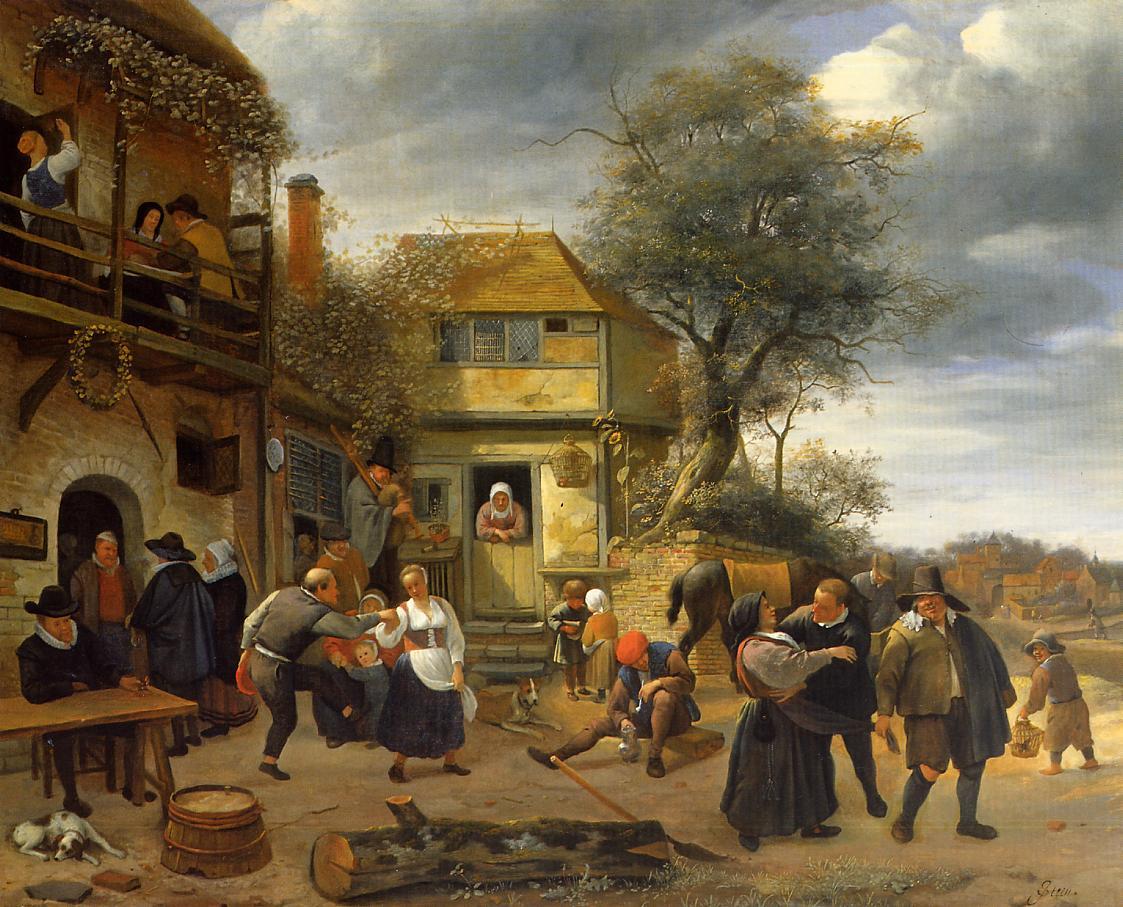 Jan Steen, Peasantss before an Inn