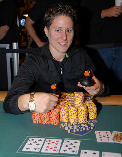 English: Vanessa Selbst after winning the $1,5...