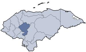 English: Division of Honduras Graphic created ...