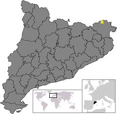 Location of La Jonquera, in Catalonia
