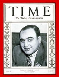 Al Capone on the cover of Time Magazine in 1930