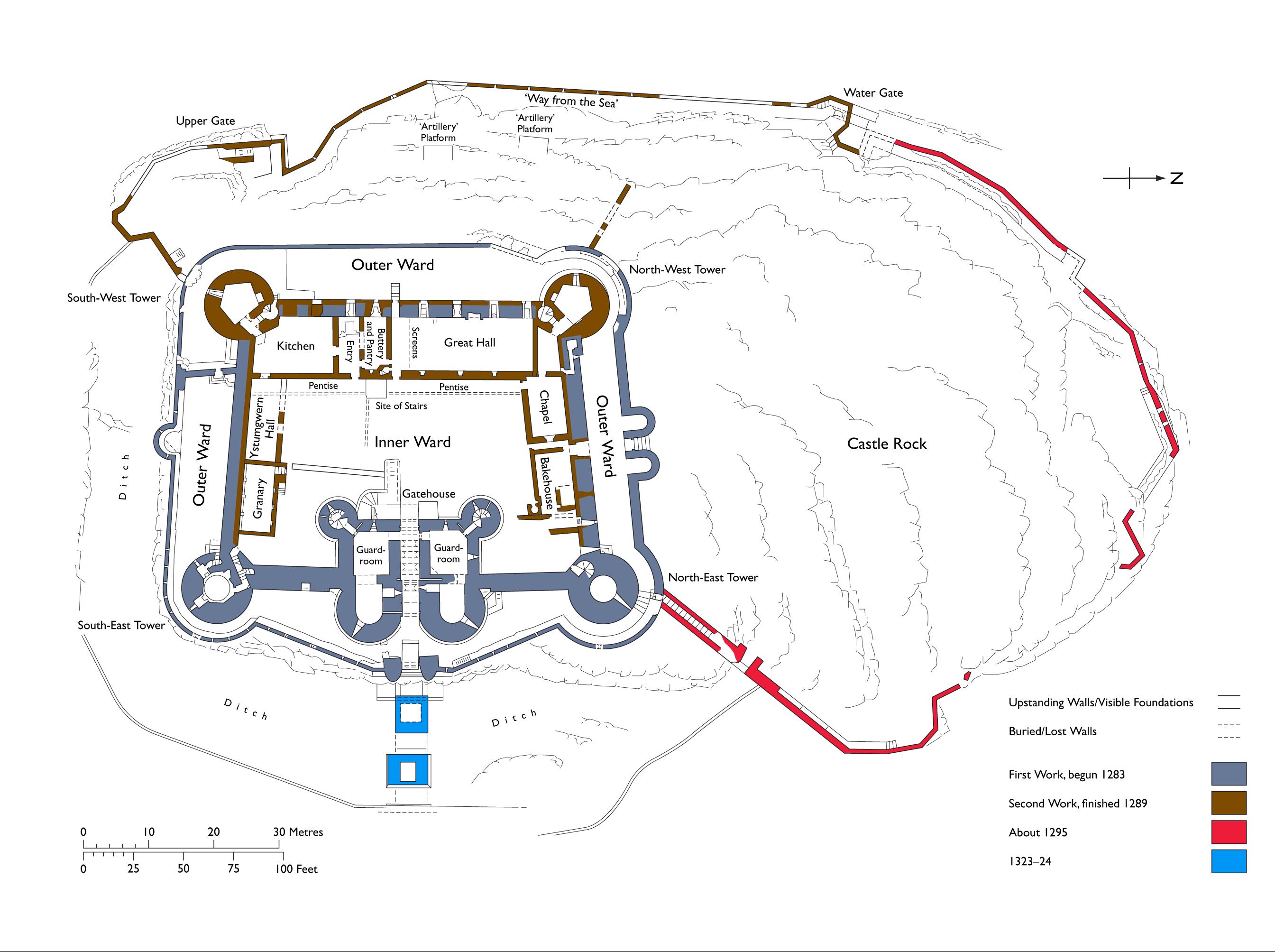 File Harlech Castle Plan