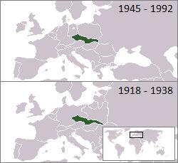 Vị trí của Tiệp Khắc