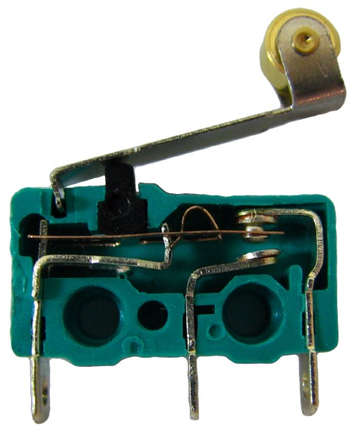 small resolution of the internals of a micro switch contacts from left to right are common normally open and normally closed