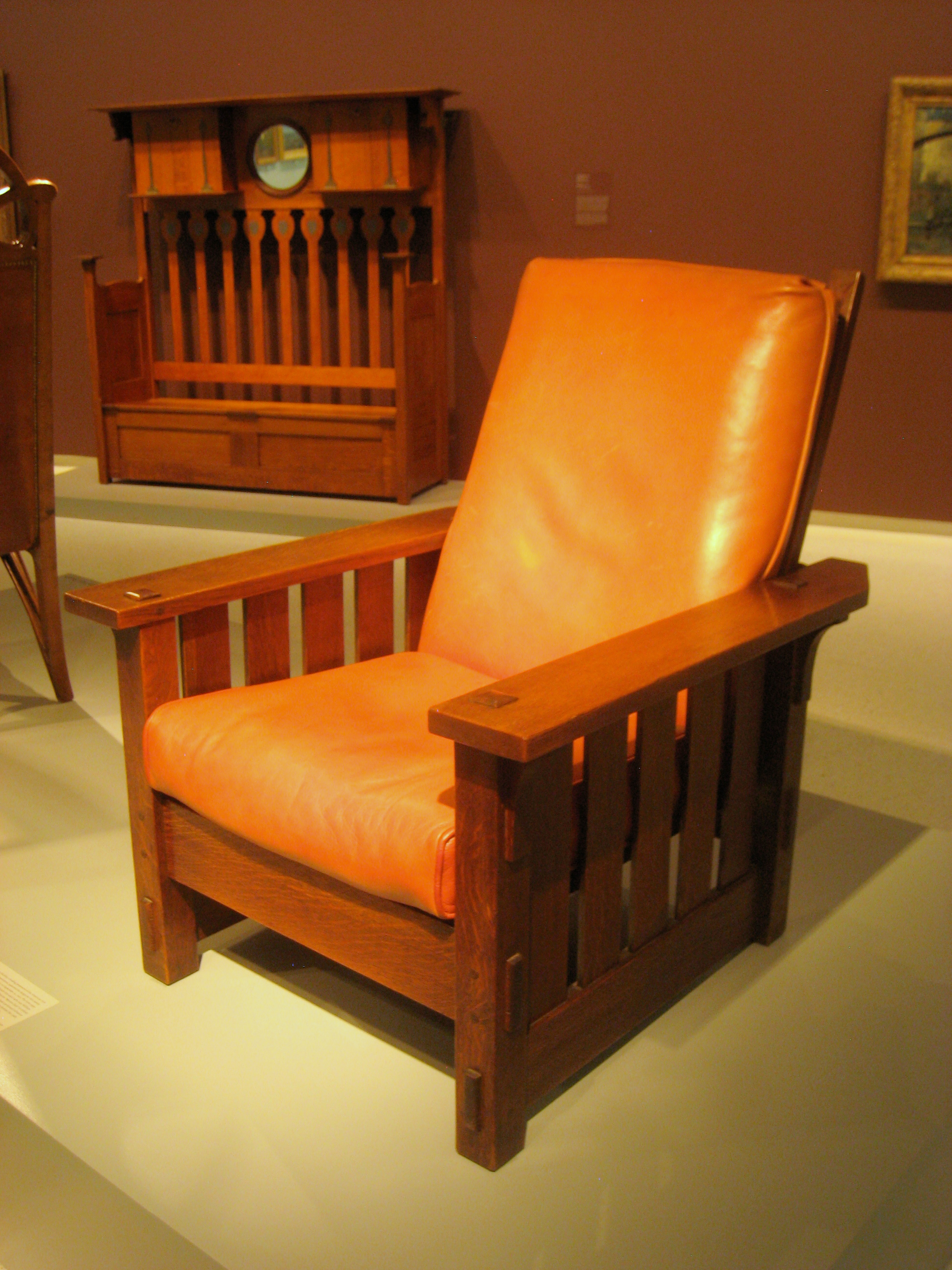Stickley Chair File Adjustable Back Chair No 2342 Gustav Stickley 1900