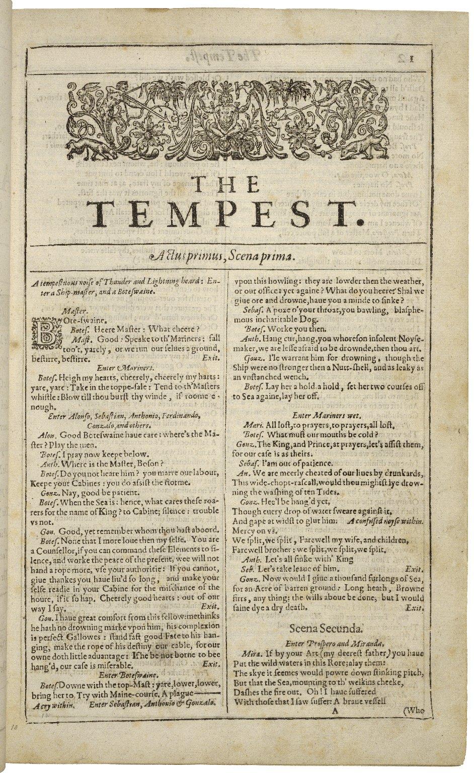La Tempête (shakespeare) : tempête, (shakespeare), Tempest, Wikipedia