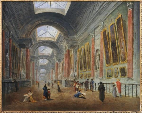 File Hubert Robert - Grande Galerie Of Louvre