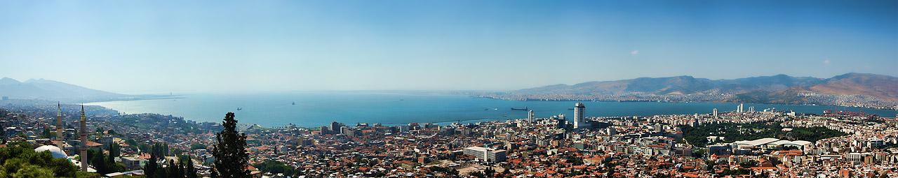 Izmir panorama from Kadifekale Castle