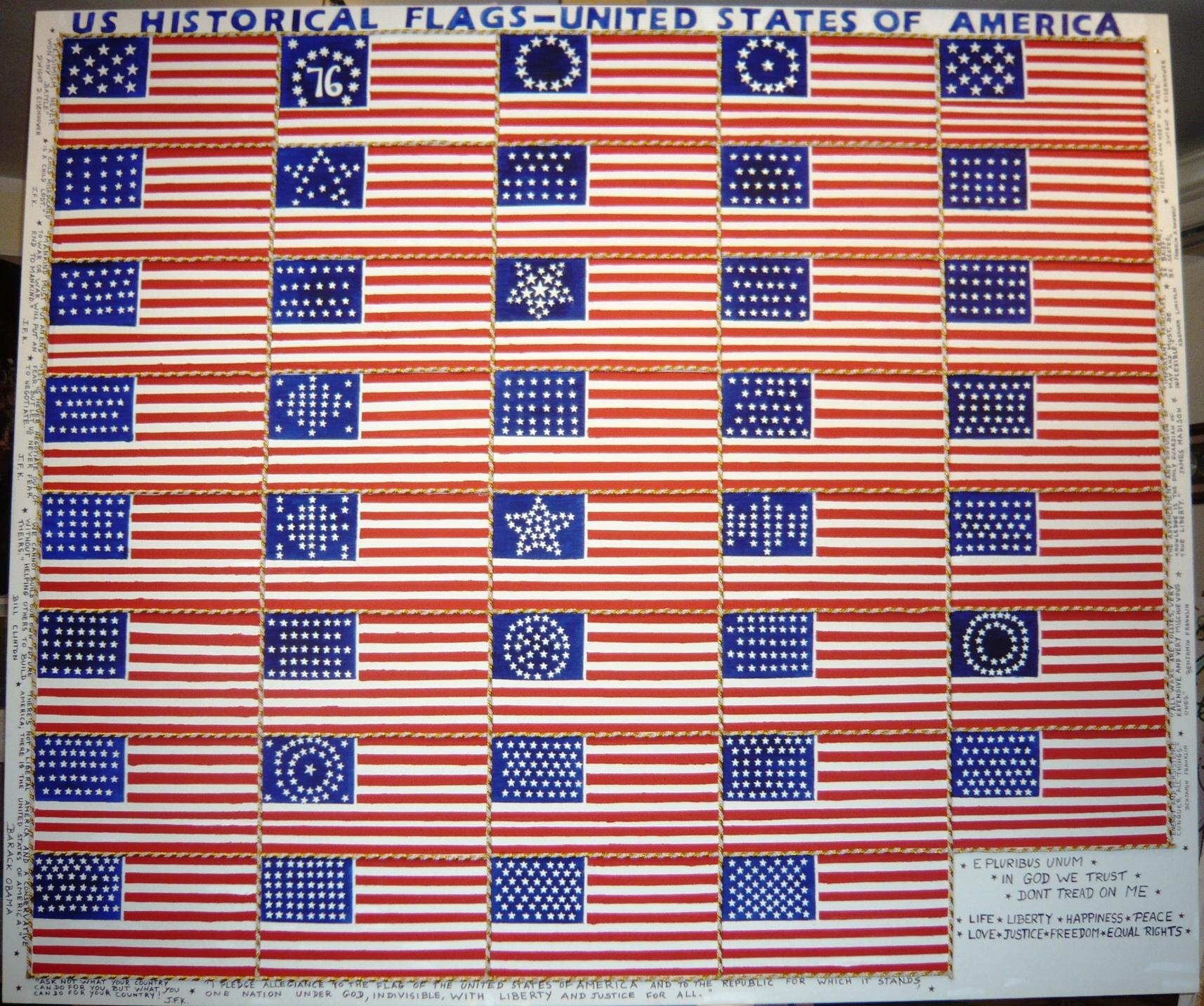 The Evolution Of The U S Flag