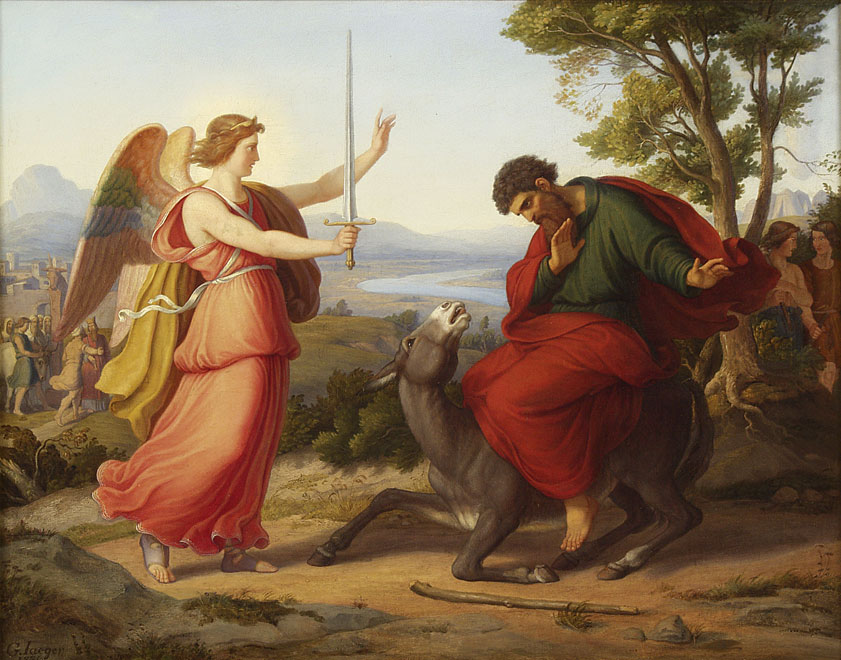Artwork of Balaam and the Donkey with the Angel of YHWH