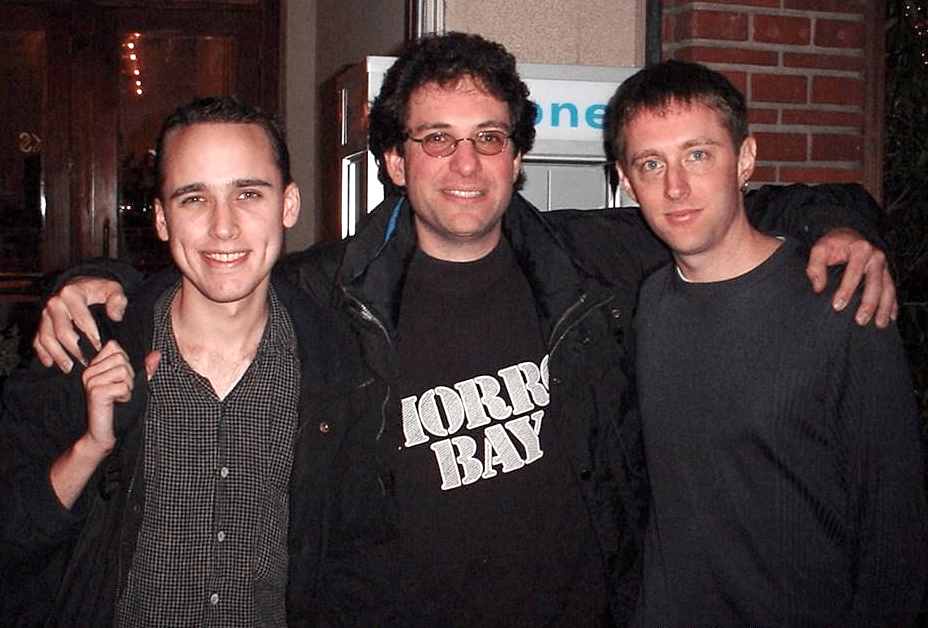 Hacker Adrian Lamo (left) with contemporaries ...