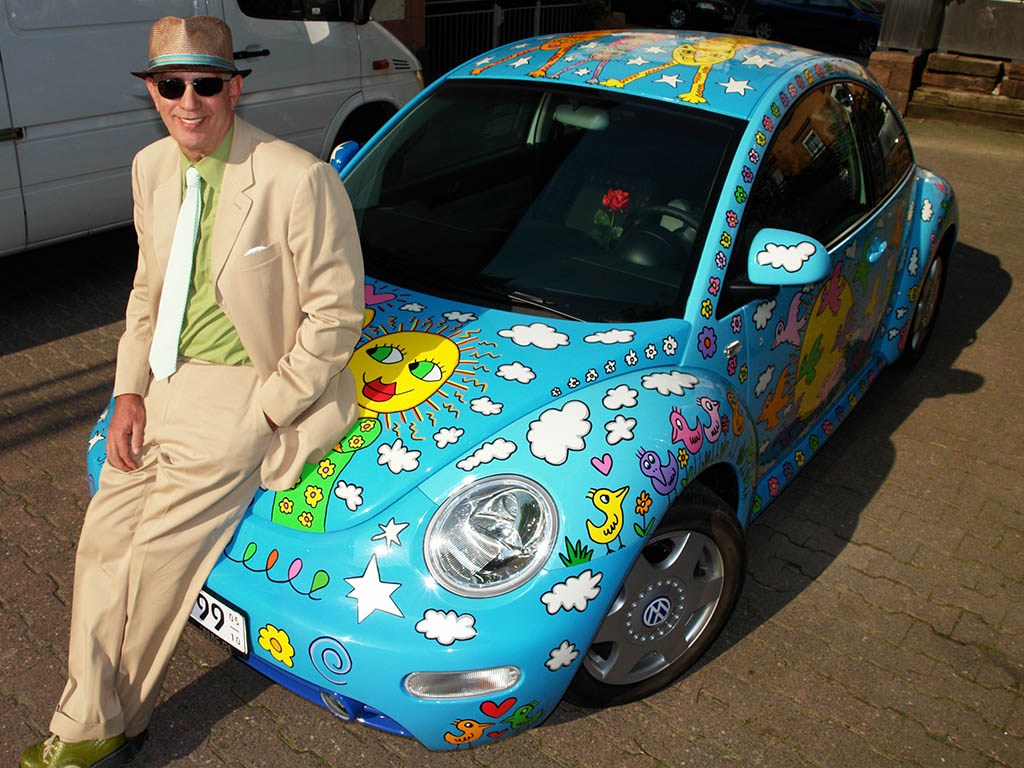 James Rizzi with the Rizzi Beetle
