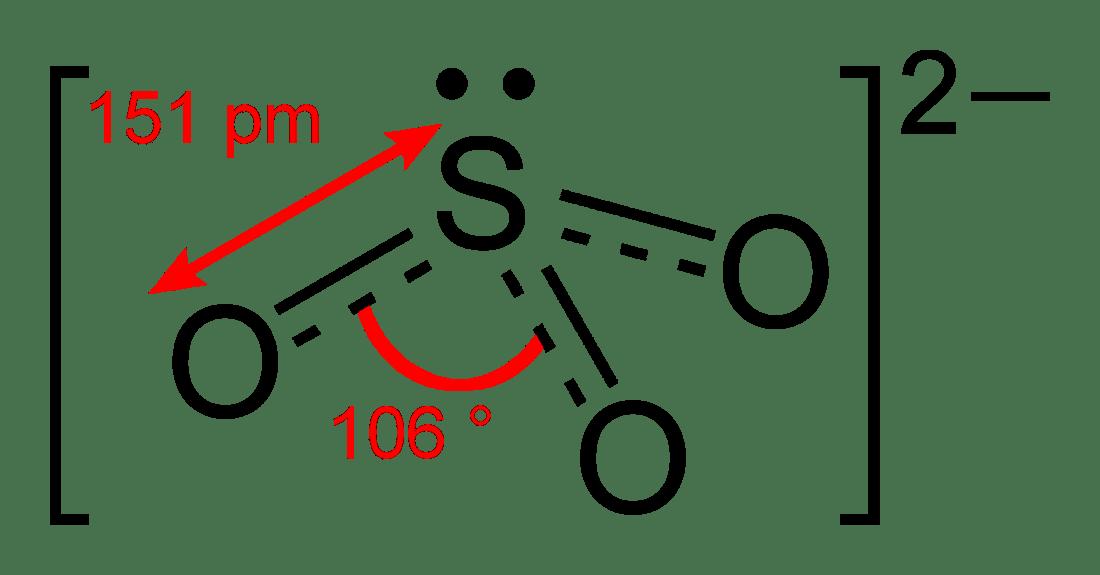 Lewis Diagram So32 Sulfite Wikipedia