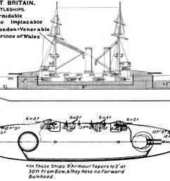 file formidable class battleship diagrams brasseys 1906 jpg [ 1209 x 883 Pixel ]