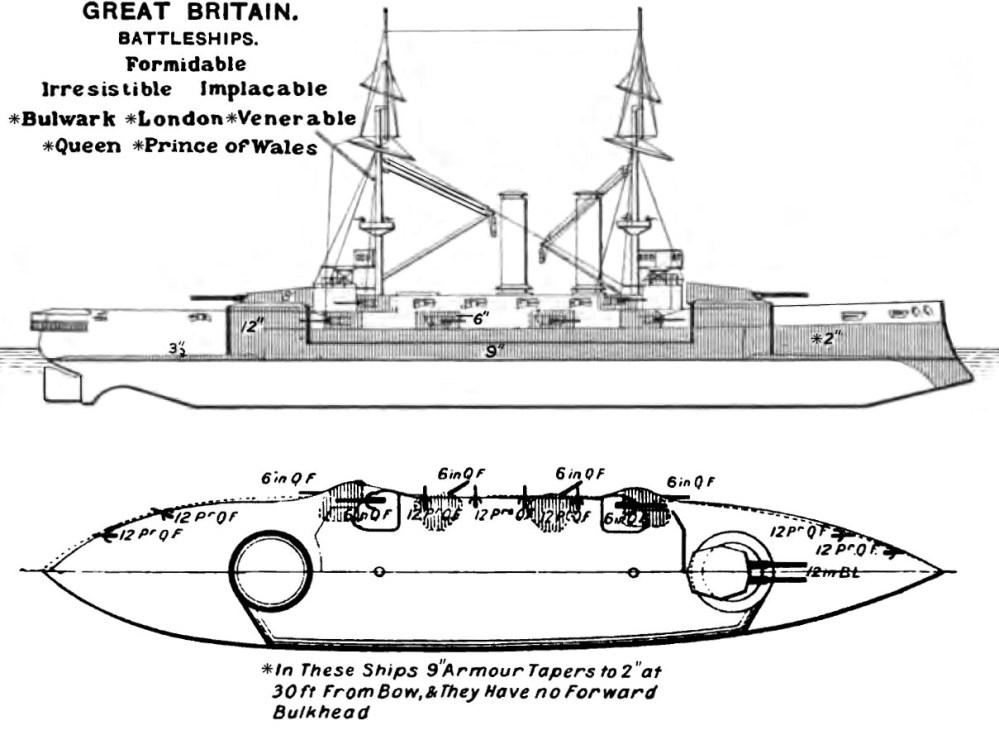 medium resolution of file formidable class battleship diagrams brasseys 1906 jpg