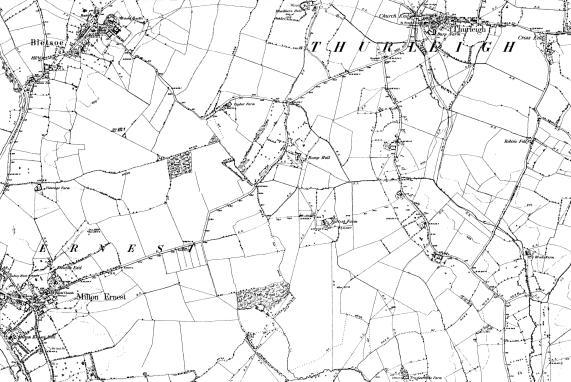 File:Map of Bedfordshire OS Map name 007-SE, Ordnance Survey, 1885