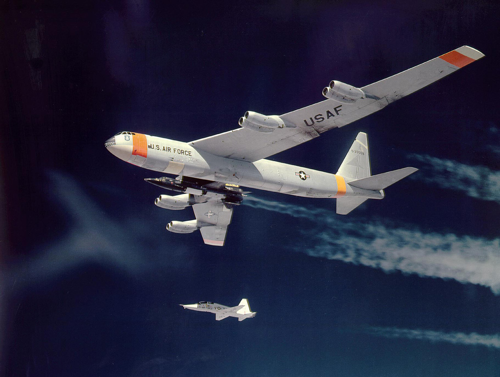 X-15 being carried by its NB-52B mothership