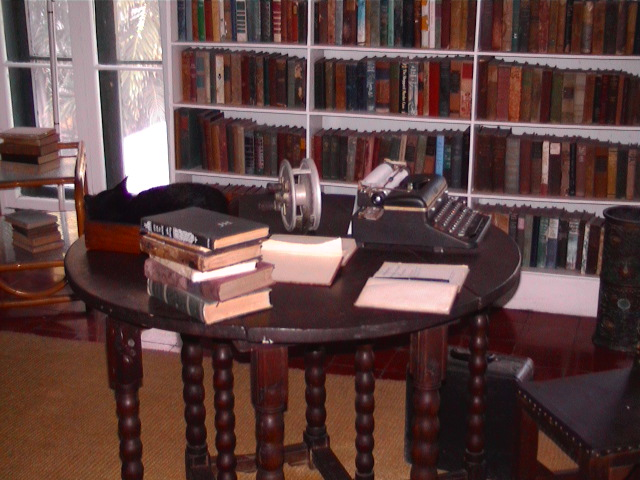 File:Hemingway's writing desk in Key West.jpg