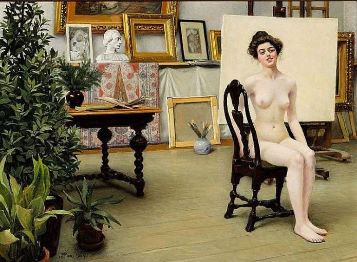 Paul Gustav Fischer - From the Artist's Studio 1904.jpg