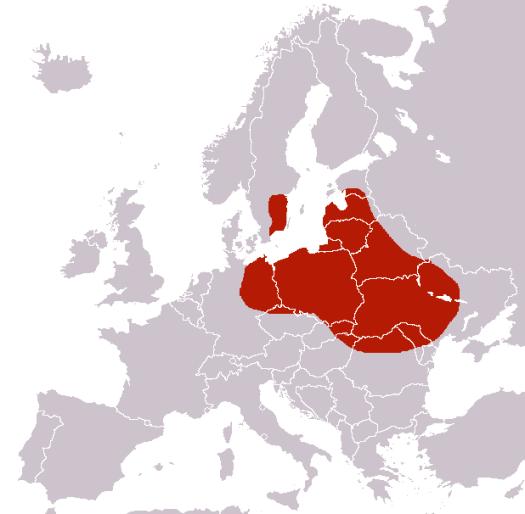 Teritorija, kur viduramžiais lenkinio košenilio gausos užteko prekybai. Ji persidengia su Lietuvos Didžiosios Kunigaikštystės, Lenkijos Karalystės ir Abiejų Tautų Respublikos sienomis