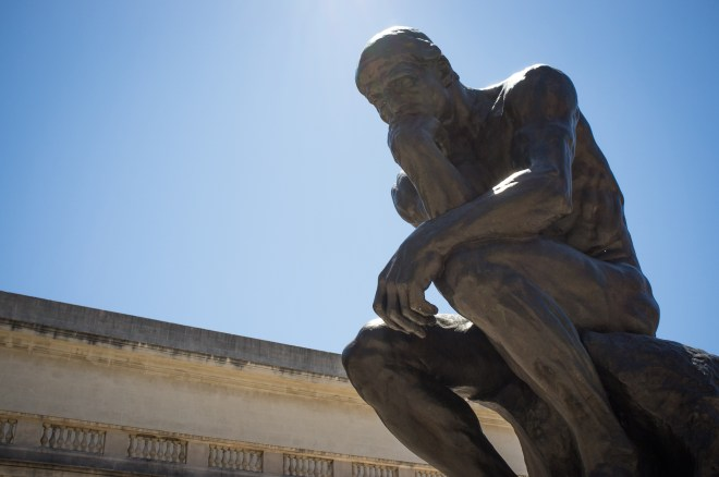 "By Drflet (Own work) [<a href=CC BY-SA 3.0], <a href=""http://commons.wikimedia.org/wiki/File%3ARodin's_The_Thinker.jpg"">via Wikimedia Commons</a>"" class /> Rodin's The Thinker"