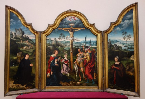 File Triptych Of Crucifixion Flanked Kneeling