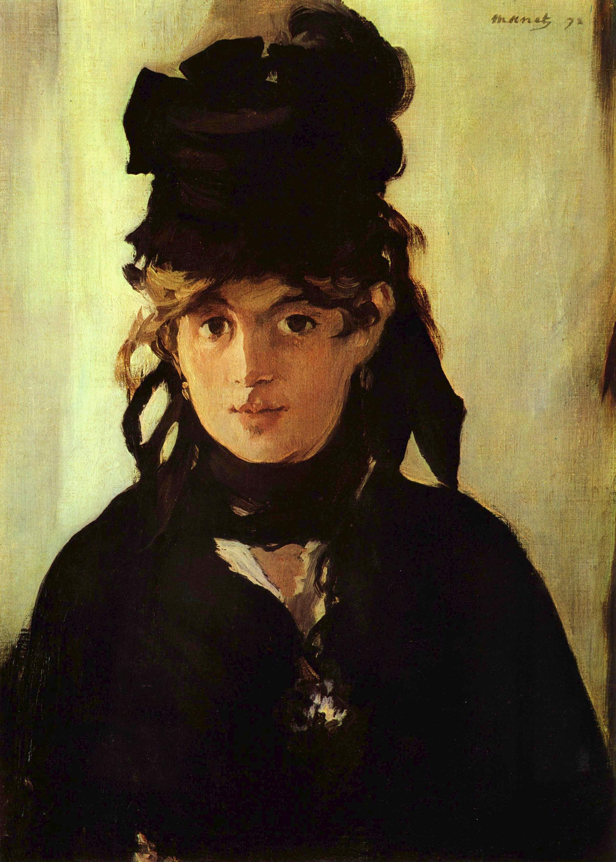 Manet, Portrait of Berthe Morisot