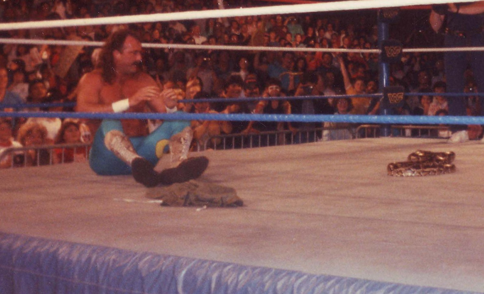 Jake the Snake Roberts with Damien