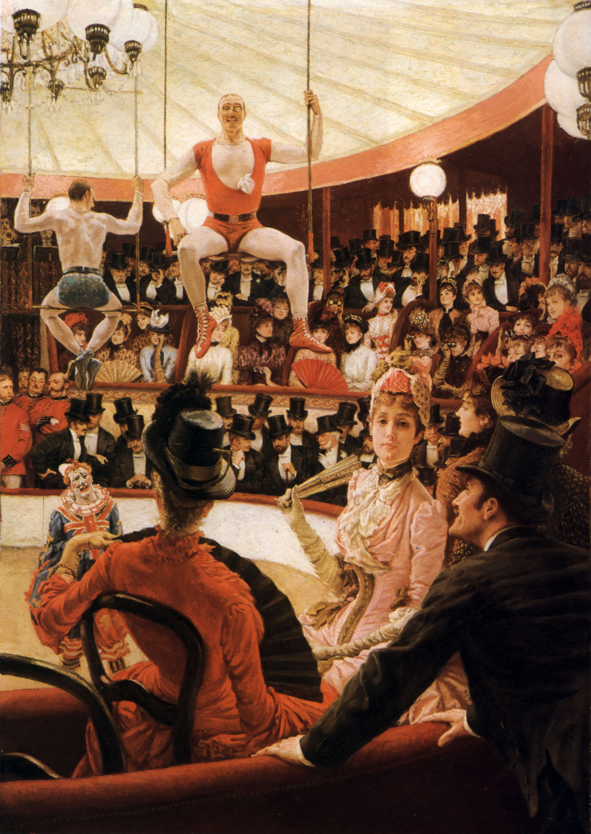 Women of Paris: The Circus Lover (also known as The Amateur Circus, 1885), by James Tissot. Oil on canvas, 58 by 40 in. (147.3 by 101.6 cm). Museum of Fine Arts, Boston, Massachusetts, U.S.A. (Photo: Wikimedia.org)