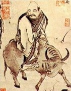 According to legends, Laozi leaves China on his water buffalo