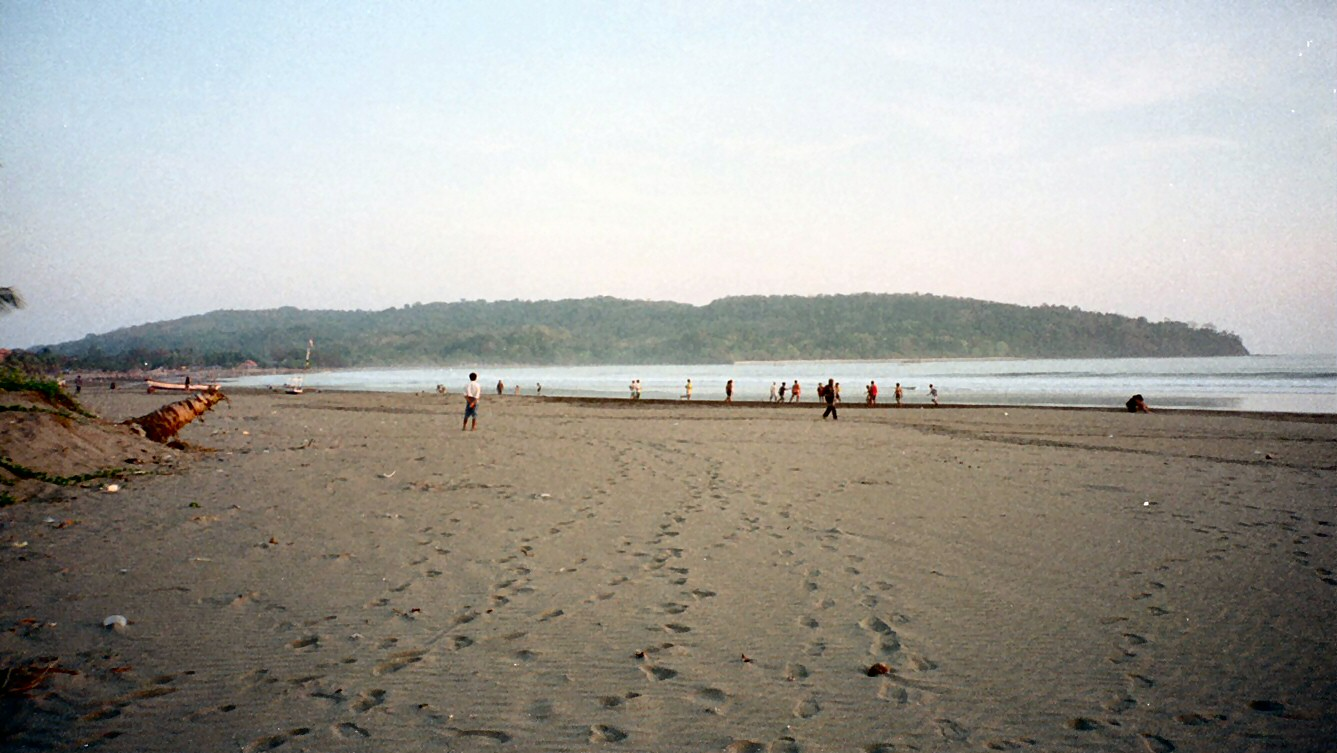 Beach of Pangandaran with its peninsula