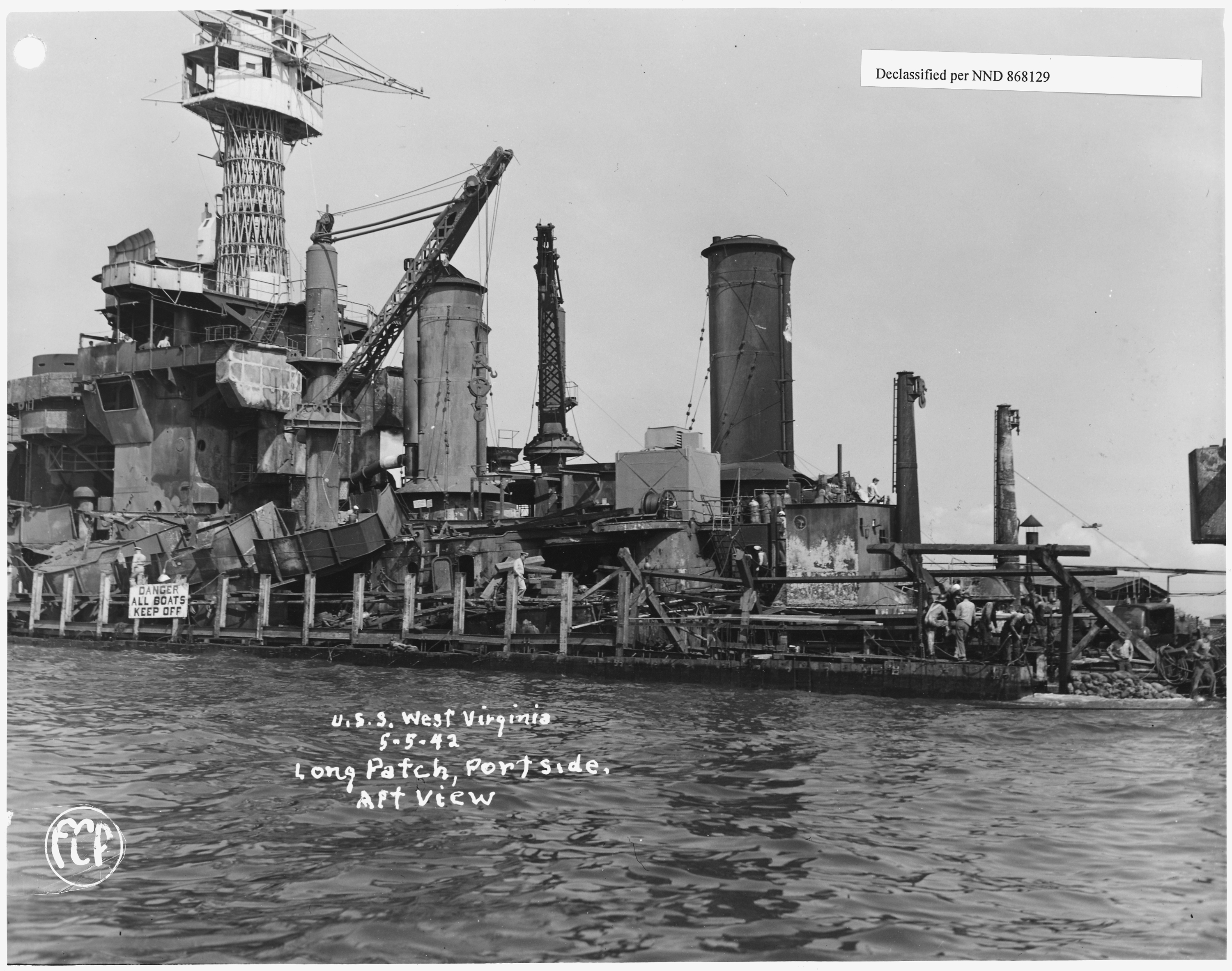 File USS West Virginia 5 5 42 Long Patch Port Side Aft