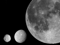 Vesta, Ceres and the Moon