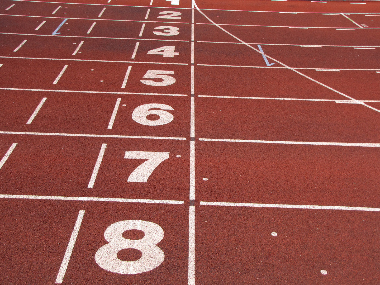English: Athletics tracks finish line
