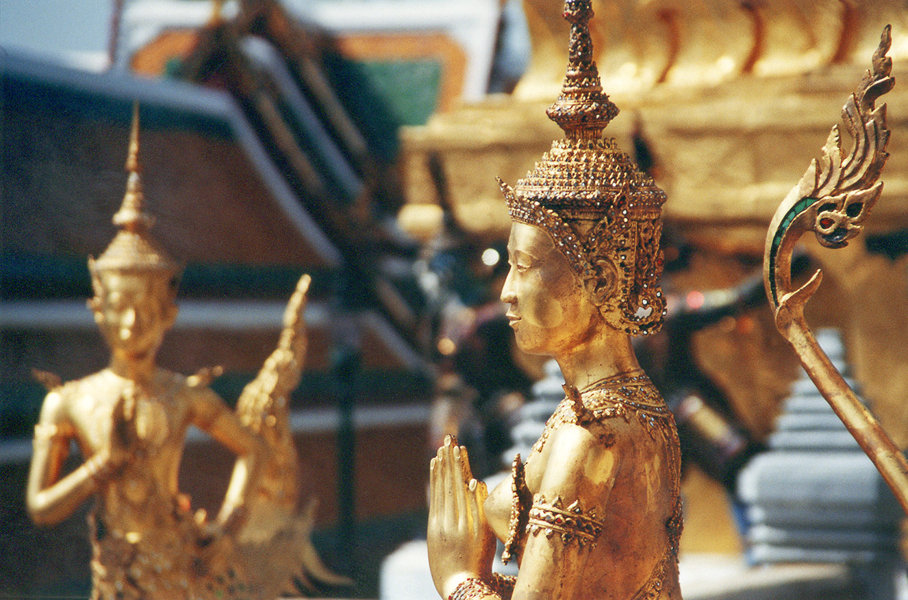 Also from the internet: Statue of a kinnara in Wat Phra Kaew