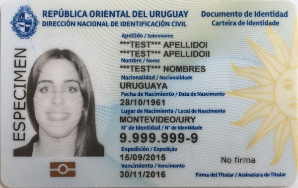 State Identification Card Template