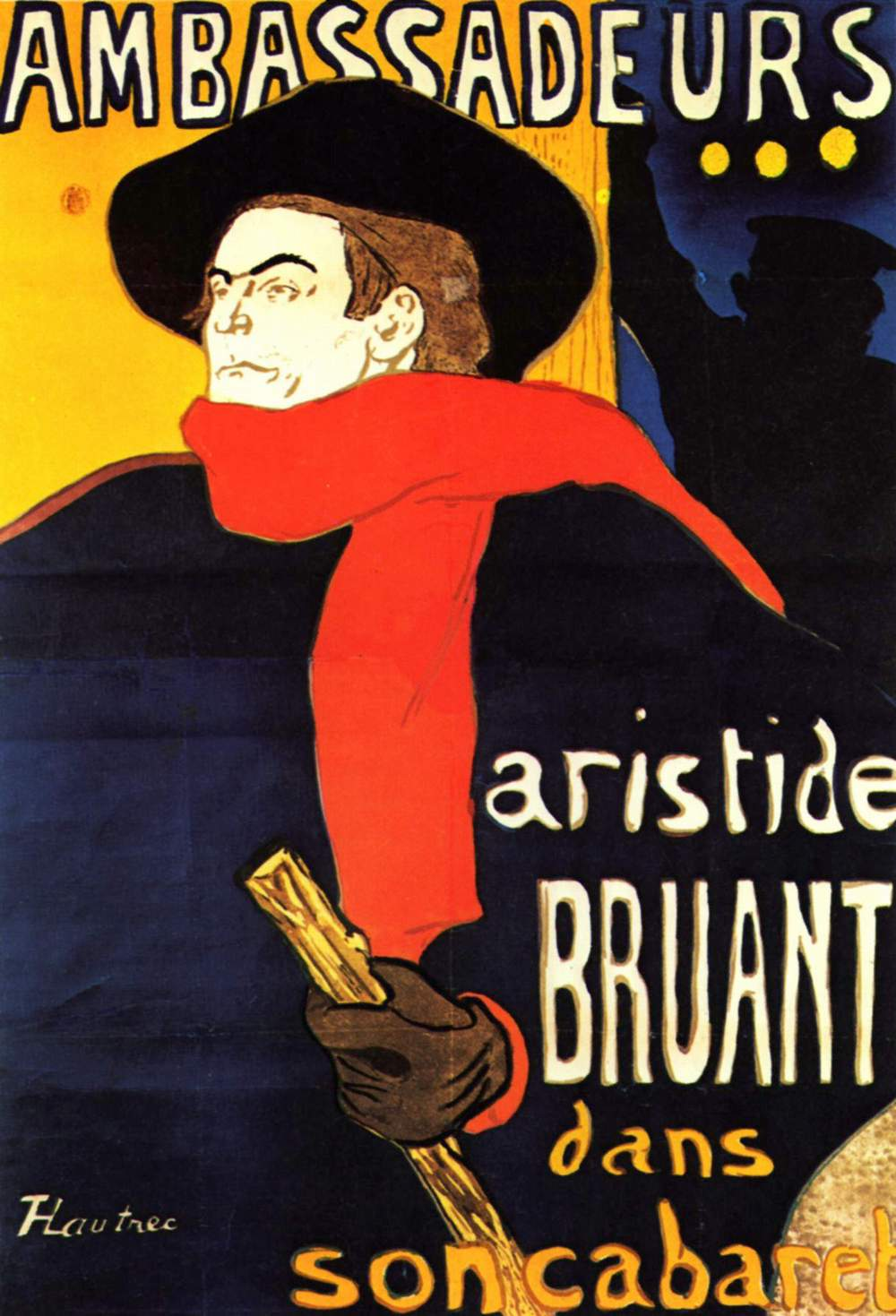 Advertising a gig for his friend Bruant.