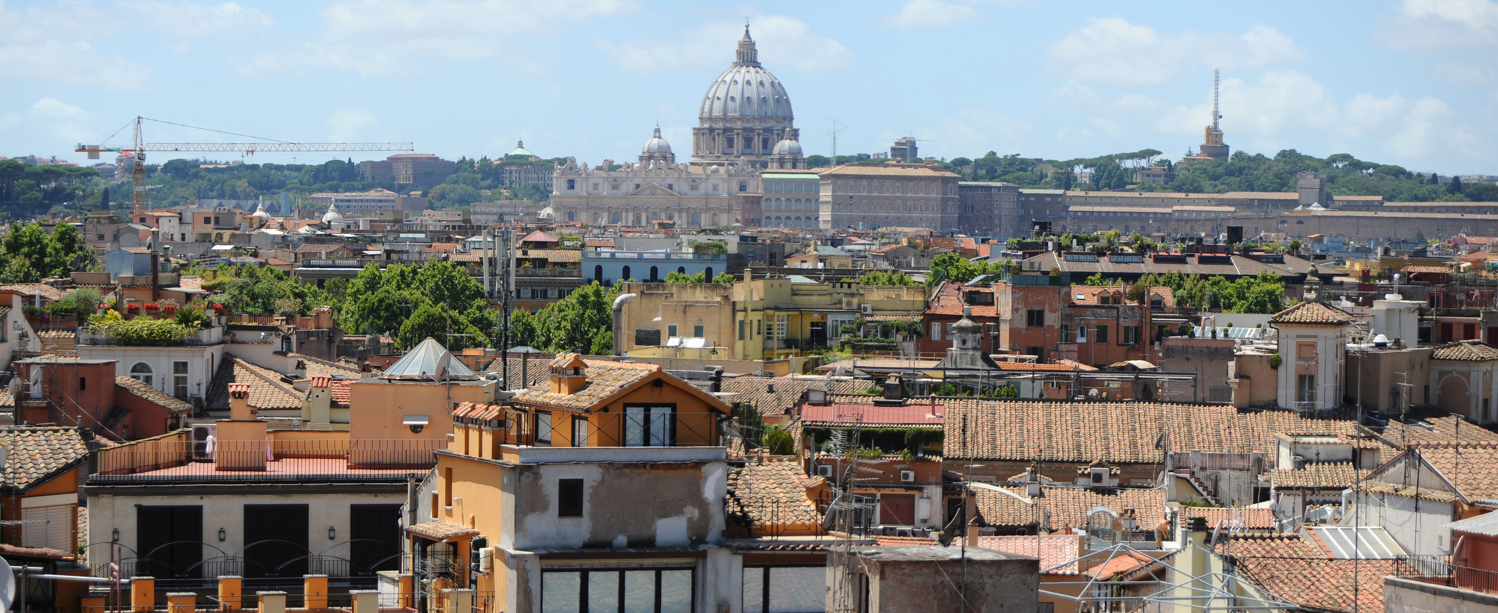 FilePanoramic view of Rome with St Peters Basilica