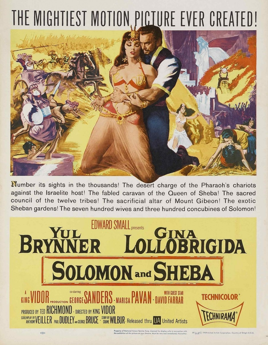 Salomon Et La Reine De Saba : salomon, reine, File:Solomon, Sheba, Theatrical, Release, Poster.jpg, Wikimedia, Commons