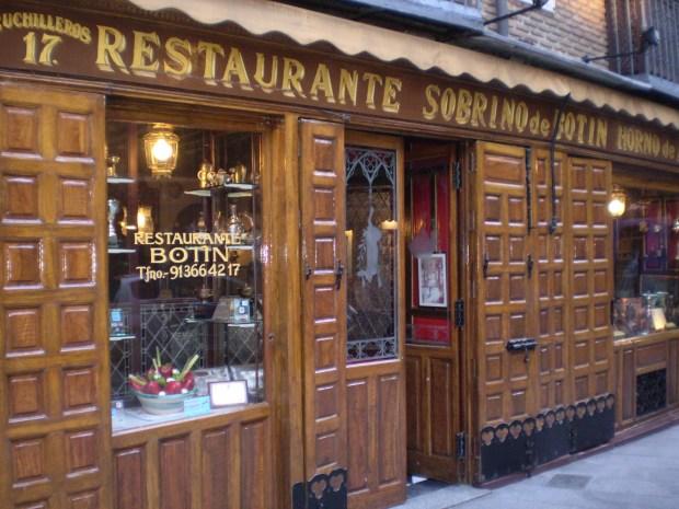 Dove mangiare a Madrid: Sobrino de Botin