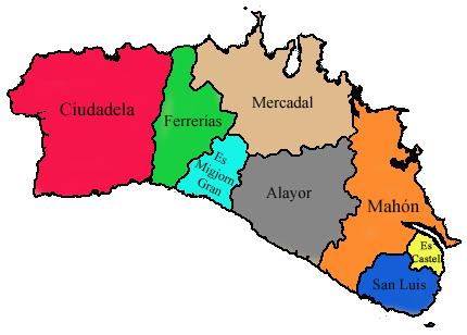Municipios de Menorca