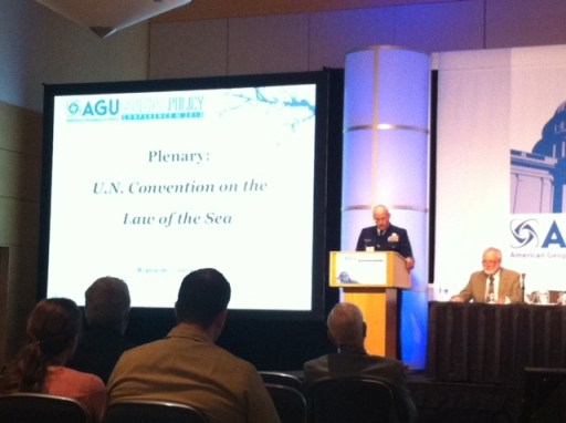Plenary session at American Geophysical Union policy conference