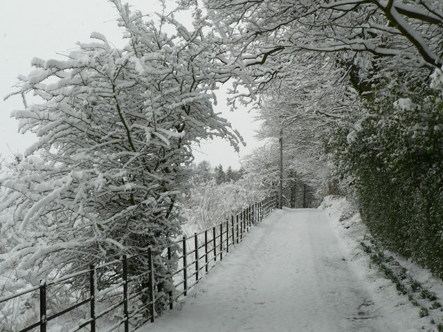 English: Snowed in Snow on the hill has often ...